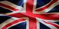 Closeup of grunge Union Jack flag Royalty Free Stock Photo