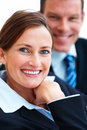 Closeup of happy business woman Stock Images