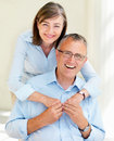 Closeup of a happy old people Stock Photography