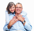 Closeup of a happy senior couple Royalty Free Stock Images
