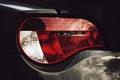 Closeup headlights of car new Stock Photos