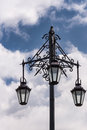 Closeup of the historic Three Lanterns in Auckland. Royalty Free Stock Photo