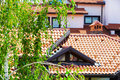 Closeup house exterior architecture background Royalty Free Stock Photo