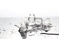 Closeup ice cubes,melt Royalty Free Stock Photo