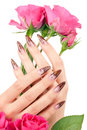 Closeup image of beautiful nails Royalty Free Stock Images