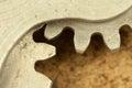 Closeup image of cogwheel element fragment