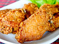 Closeup image of fried chicken's wings Stock Images
