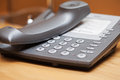 Closeup image of office phone on a table Stock Image