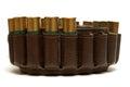 Closeup image shotgun shell bandoleer Royalty Free Stock Images