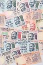Closeup of indian currency notes view Stock Photos