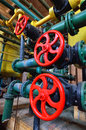 Closeup industrial valves Royalty Free Stock Photo