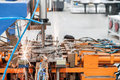 stock image of  Closeup of an industrial welding machine