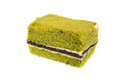 Closeup Japanese Matcha green tea cake cheesecake Royalty Free Stock Photo