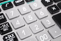 Closeup of the keypad of a calculator. Royalty Free Stock Photo