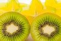 Closeup kiwi fruit Royalty Free Stock Photo