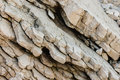Closeup of limestone rock layers Royalty Free Stock Photo