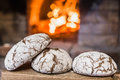 Closeup of a loaf of bread from the furnace Royalty Free Stock Photo