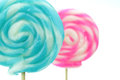 Closeup of lollipops close up sweet isolated on white background Royalty Free Stock Image