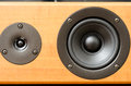Closeup of loudspeaker home theater Royalty Free Stock Images