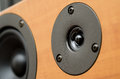 Closeup of loudspeaker home theater Stock Images