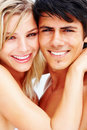 Closeup of a lovely young couple Stock Photography