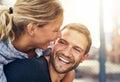 Closeup loving couple blonde woman and beautiful man Royalty Free Stock Photos