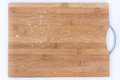 Closeup macro bread crumbs on the wooden board Royalty Free Stock Photo