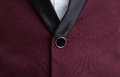 Closeup of male suit jacket button Royalty Free Stock Photo