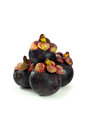 Closeup of  mangosteen Stock Photo