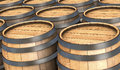 Closeup many wooden barrels d render Royalty Free Stock Photography