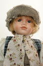 Closeup marionette chequered hat Royalty Free Stock Photos