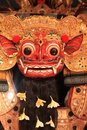 Closeup Mask of Barong Balinese Stock Photos