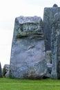 Closeup of massive stone trilithons of Stonehenge World Heritage Royalty Free Stock Photo