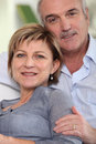 Closeup of mature couple Royalty Free Stock Images