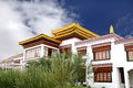 Closeup of the monastery at druk white lotus school campus leh inside louts also called as rancho Stock Photo