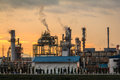Closeup Morning Oil Refinery Royalty Free Stock Image