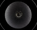 Closeup of music speakers membrane Royalty Free Stock Photo