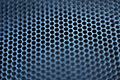 Closeup of natural metal mesh speaker Royalty Free Stock Photo