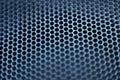 Closeup of natural metal mesh speaker Royalty Free Stock Photo