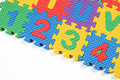 Closeup of Number puzzles Royalty Free Stock Photo