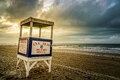 Closeup Ocean City Lifeguard Stand at Sunrise Royalty Free Stock Photo