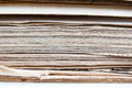 Closeup of old book pages texture background Royalty Free Stock Photo