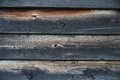 Closeup of old burnt weathered wooden planks Stock Photo