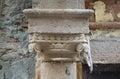 Closeup of Old Column Royalty Free Stock Photo