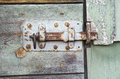 Closeup of an old rustic wooden barn door Royalty Free Stock Photo