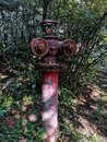 Closeup of old rusty fire hydrant Royalty Free Stock Photo