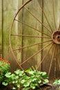 Closeup old wagon wheel Royalty Free Stock Photo