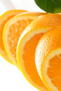 Closeup of orange slices Stock Photos