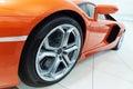 Orange sportscar Royalty Free Stock Photo