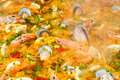 Closeup of paella Stock Photography